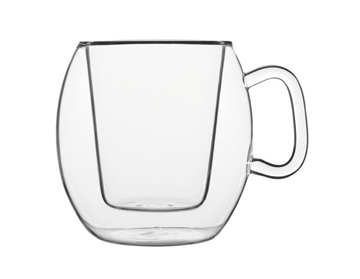 S/2 Romeo Double-Wall Coffee Mugs