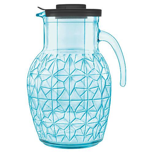 Prezioso Glass Pitcher, Blue