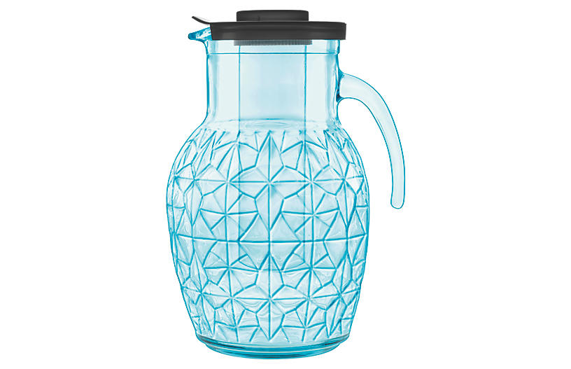 Prezioso Glass Pitcher - Blue - Luigi Bormioli