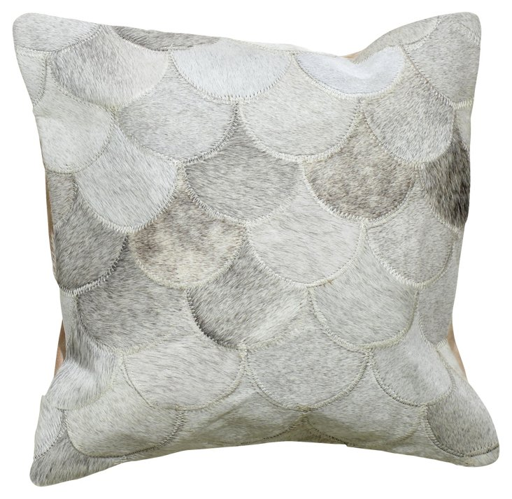 Scales 20x20 Pillow, Gray