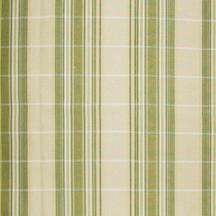Cordina Stripe Fabric, Green