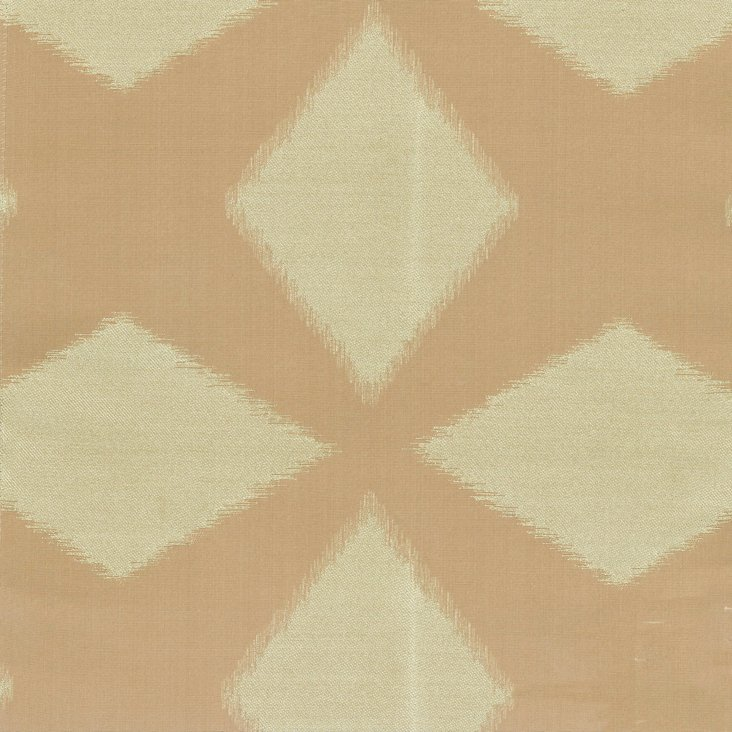 Polygon Cotton/Silk Fabric, Taupe
