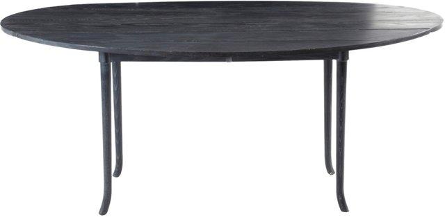 Midcentury Cerused Folding Table