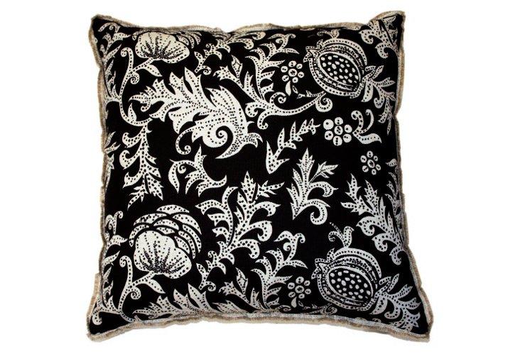 Botanical 20x20 Pillow, Ink