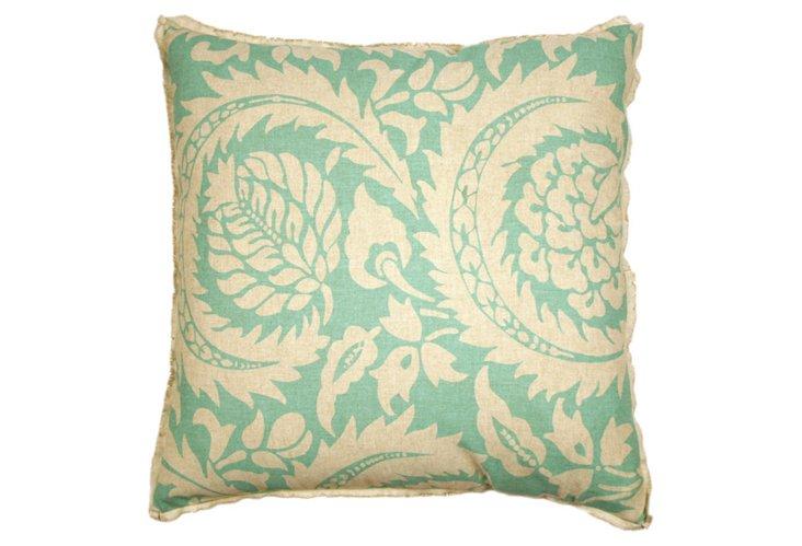 Lisbon Capri 20x20 Pillow, Turquoise