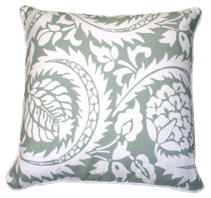 Lisbon Sugarcane 20x20 Pillow, Blue