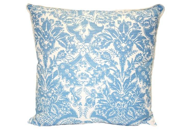 Anne Mayflower 20x20 Pillow, Blue