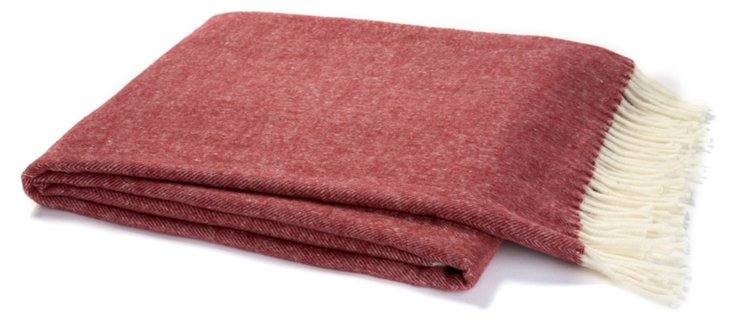 Herringbone Throw, Merlot
