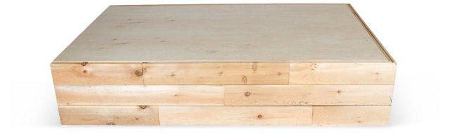 Rustic Queen Bed Platform