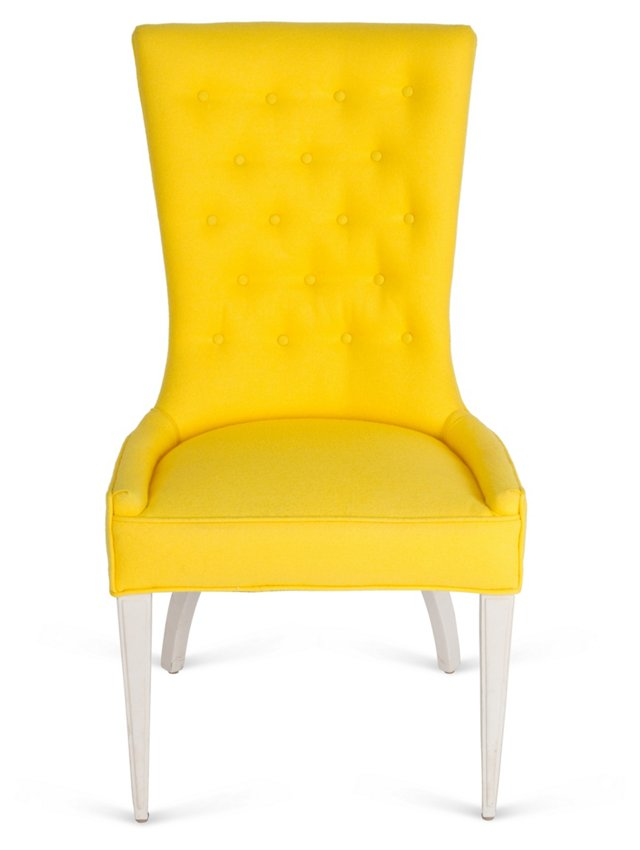 Vintage Yellow Hostess Chair