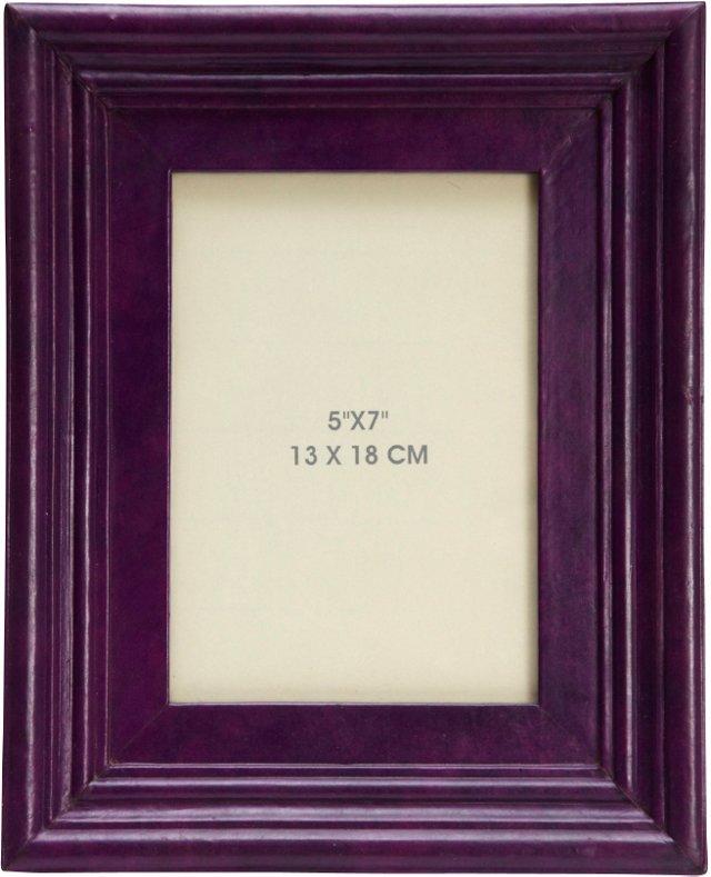Purple Leather Frame, 5x7