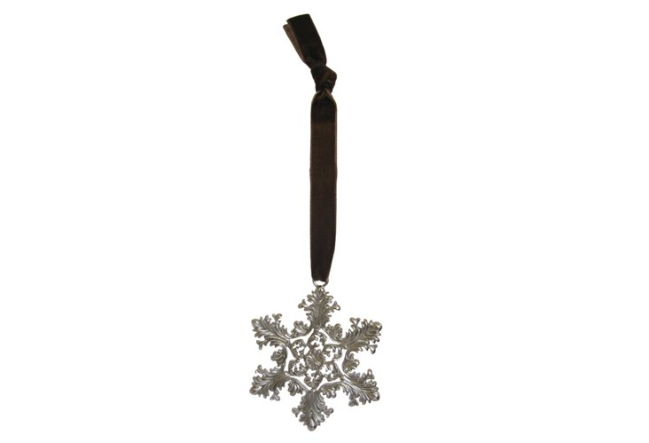 Platinum-Plated Snowflake Ornament