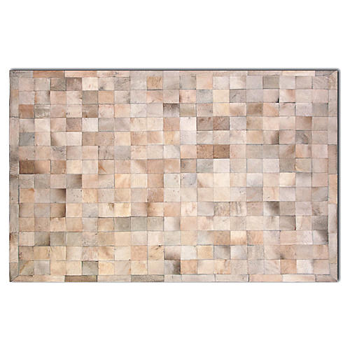 5'x8' Bess Hide Rug, Tan