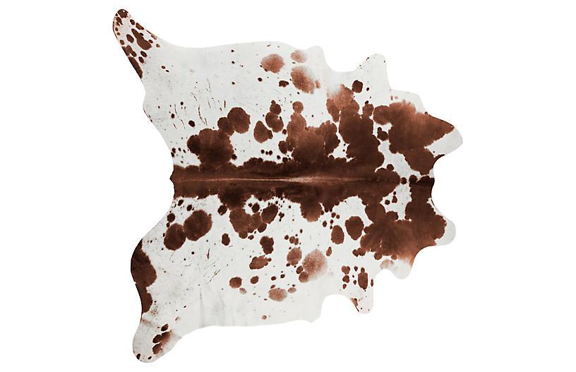 6'x7' Lulu Hide, Brown/White