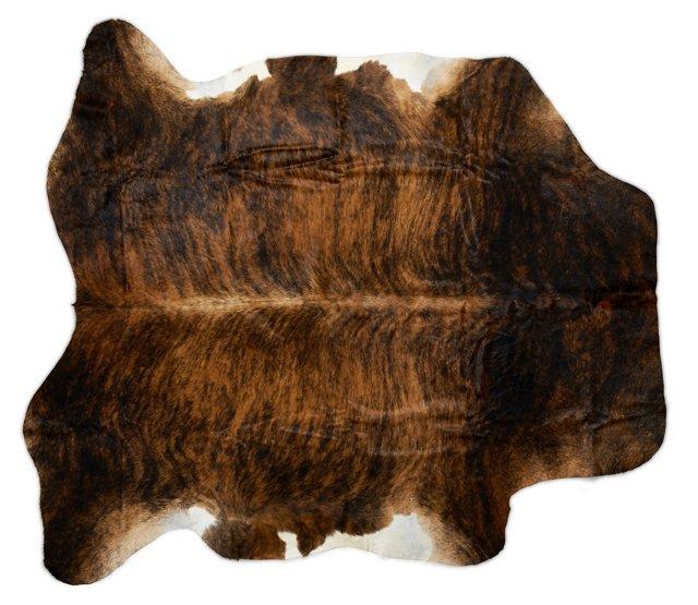 6'x7' Lulu Hide Rug, Charcoal/Ivory