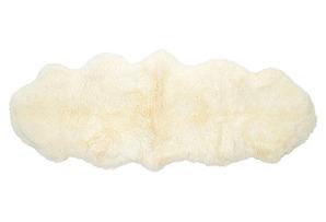 2'x3' Sheepskin Rug, Ivory*