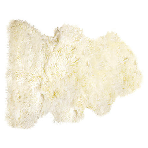Sheepskin Curly Rug, Natural