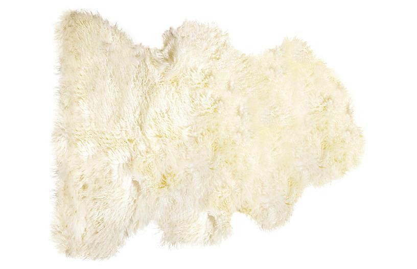 Sheepskin Curly Rug, Natural