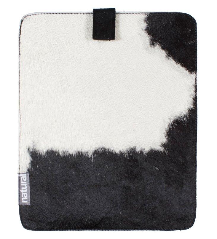 Cowhide iPad Case, Black & White