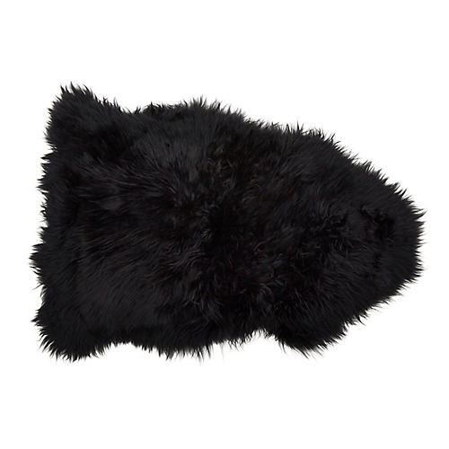 Sheepskin Rug, Black