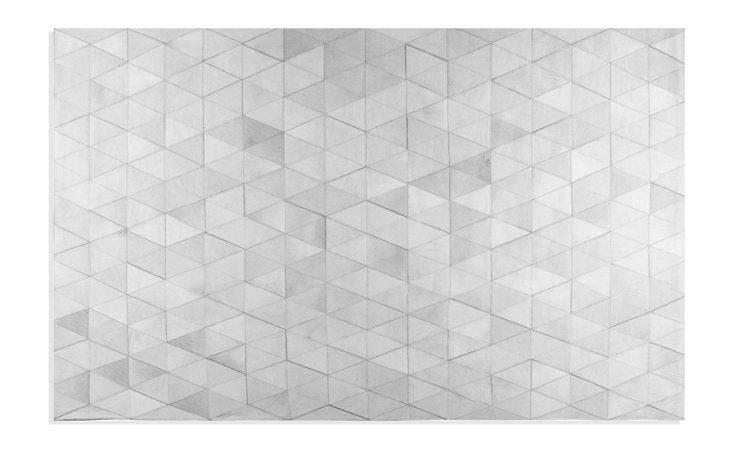 Mosaic Hide Rug, Gray