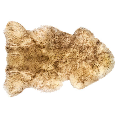Sheepskin Rug, Gradient Chocolate