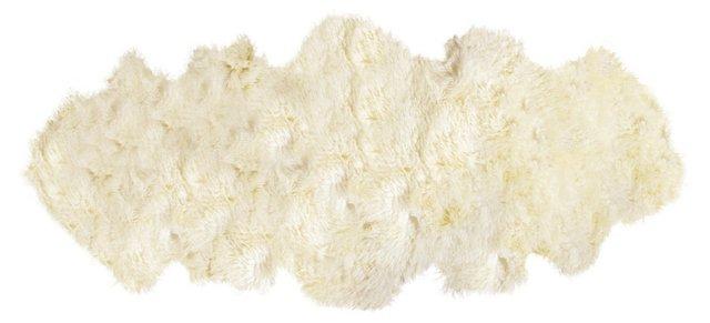 2'x6' Curly Sheepskin, Natural