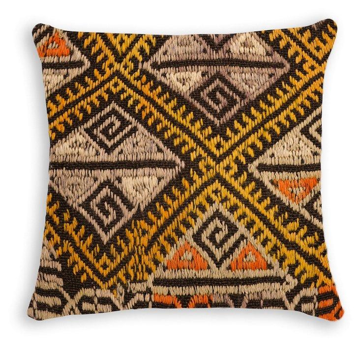Azra 16x16 Wool Pillow, Multi