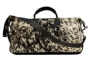 Haircalf  Duffel Bag, Black/White