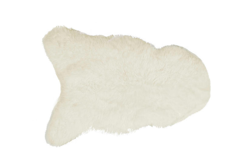 2'x3' Icelandic Sheepskin Rug, White