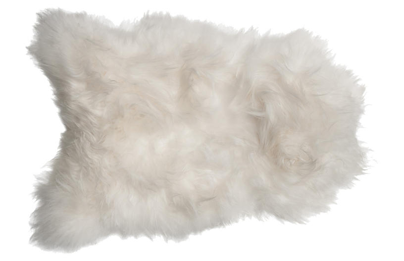 2'x3' Icelandic Sheepskin Rug, Natural