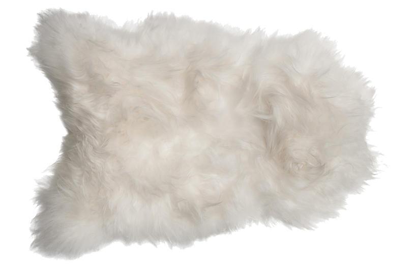 2'x3' Icelandic Sheepskin Rug, Natural