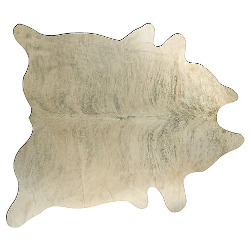 6'x7' Kobe Hide Rug, Light Brindle