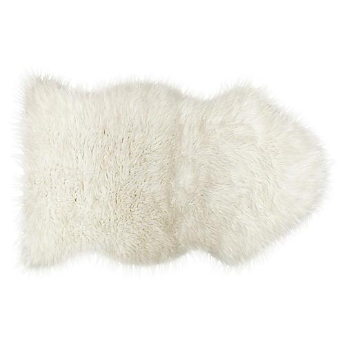 2'x3' Gordon Faux Sheepskin Rug, White