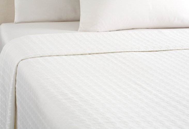 Windsor Coverlet, White