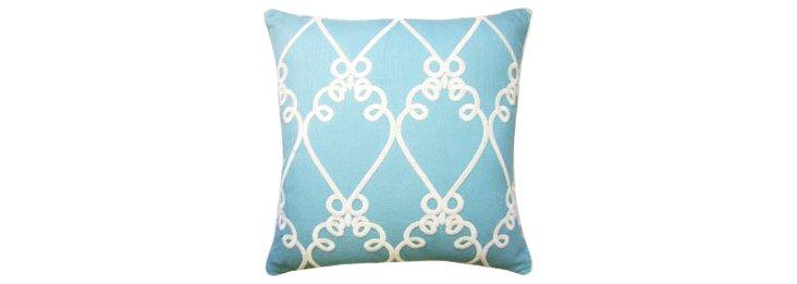 Galt 22x22 Cotton Pillow, Peacock