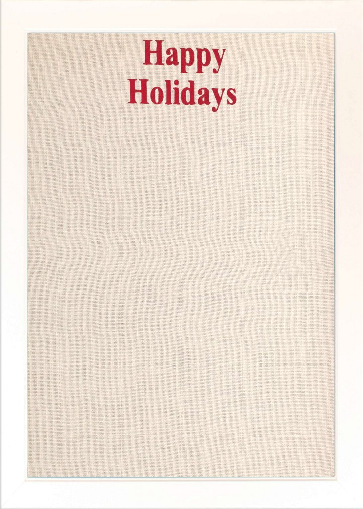 """""""Happy Holidays"""" Pinboard, White"""
