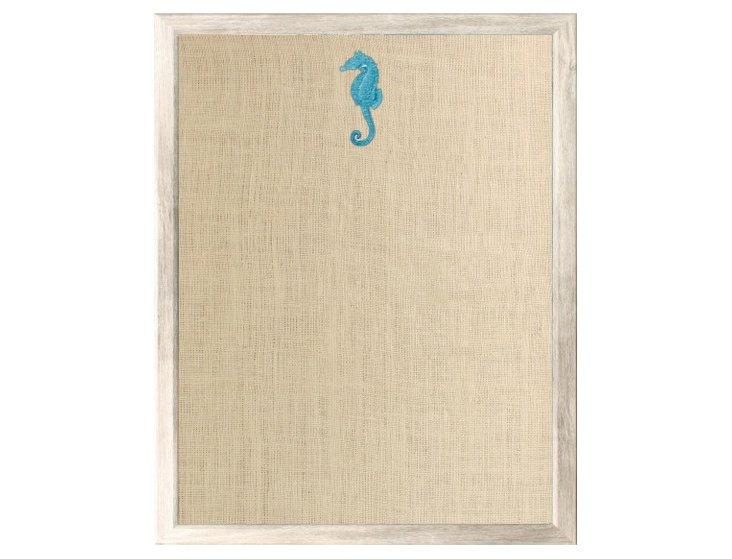Seahorse Bulletin Board, Blue