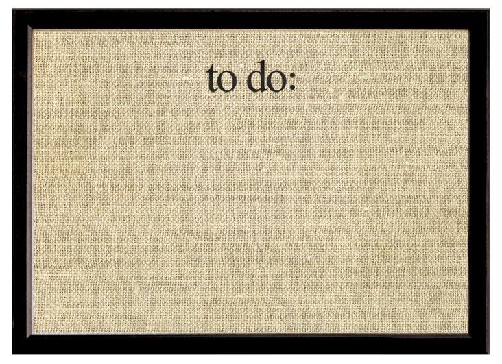 """""""To Do"""" Stamped Pinboard, Black"""