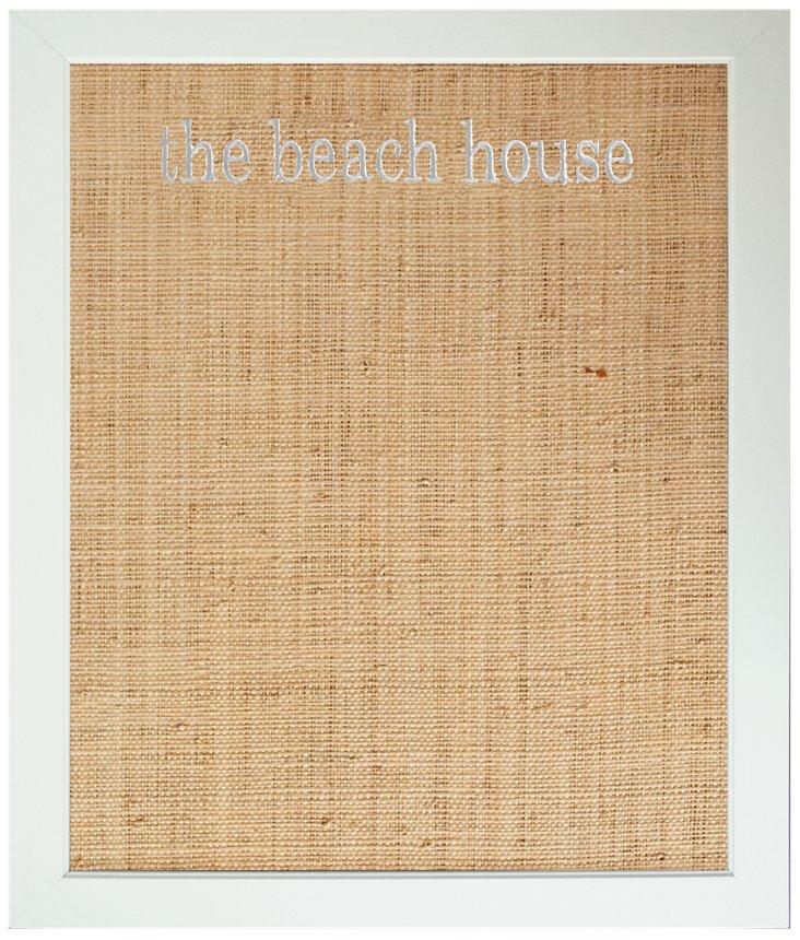 """The Beach House"" Bulletin Board, White"