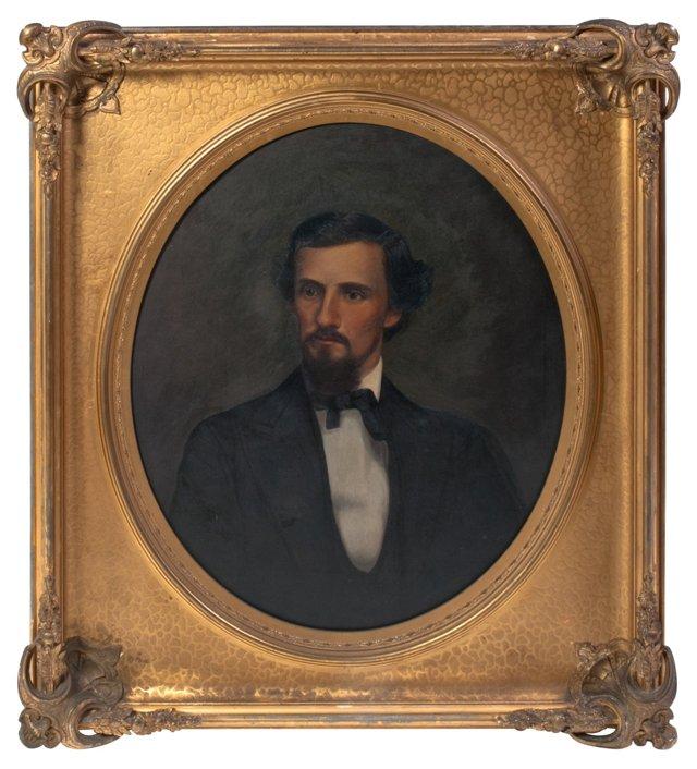Antique Gentleman Oil Painting