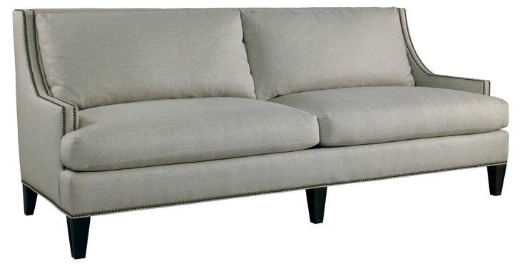 """Royce 87"""" Linen Sofa, Beige"""