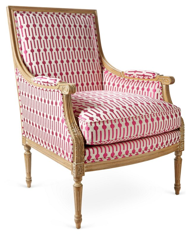 Exeter Accent Chair, Red