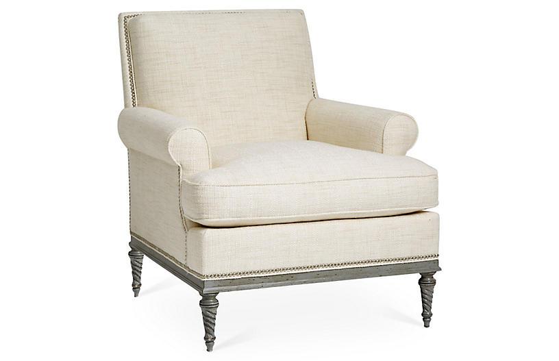 Shelley Club Chair, Natural
