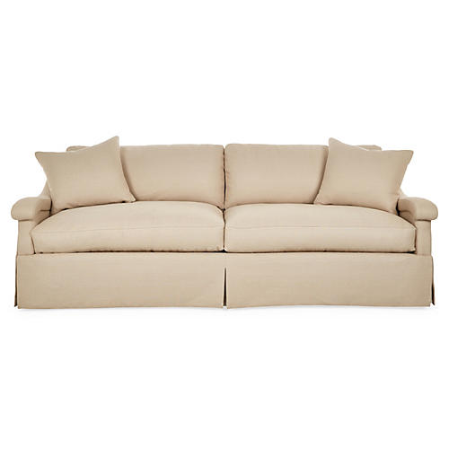 "Vonn 94"" Sofa, Natural Linen"