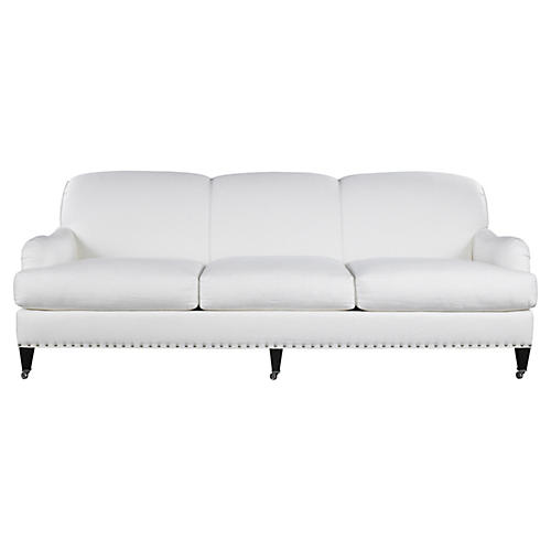 Albert Park Linen Sofa, Cream