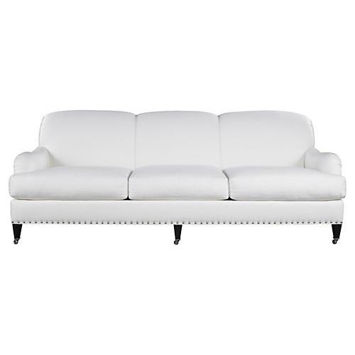 Albert Park Linen Sofa, Cream