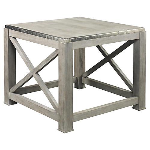 Burleigh Side Table, Weathered Gray