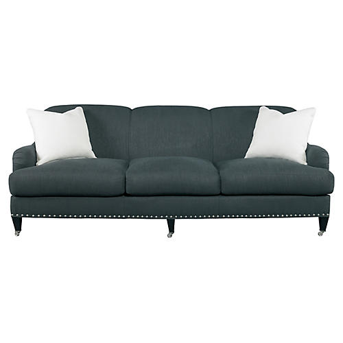 "Albert 95"" Park Mid Sofa, Navy"