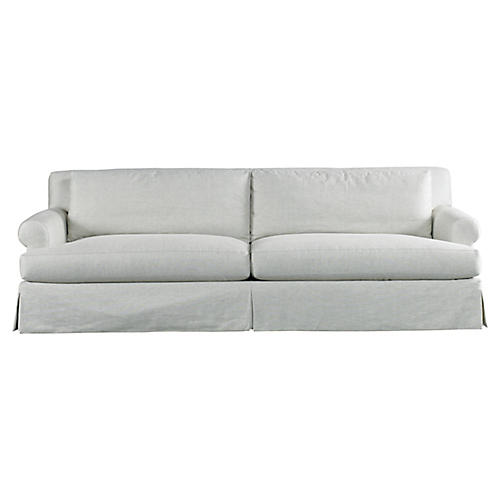 "Russell 100"" Grand Sofa, Beige"